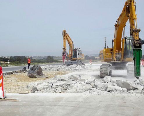 Construcciones Felipe Castellano - Reparación Pista de Aterrizaje